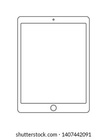 Black and white tablet icon