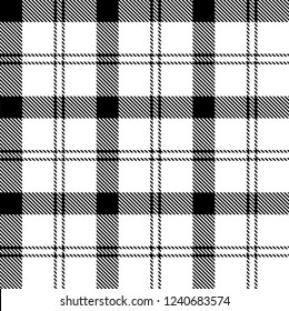Black and white tartan plaid Scottish seamless pattern. Texture from tartan, plaid, tablecloths, clothes, shirts, dresses, paper, bedding, blankets and other textile products.