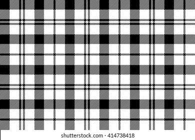 Black white tartan plaid seamless.Vector illustration.