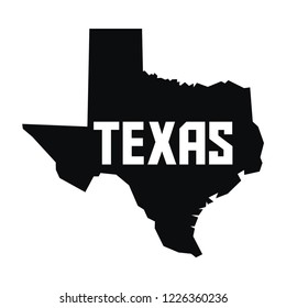 black and white texas map