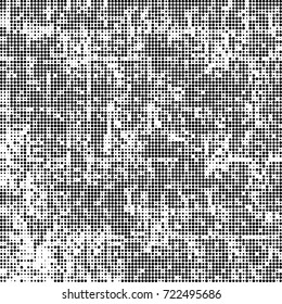 Black and white texture halftone. Abstract background of ink stains. Vector grunge vintage
