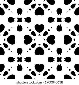 Black and white texture. seamless geometric pattern.
