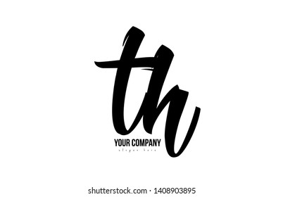 black and white th t h alphabet letter combination suitable as a logo icon design for a company or business