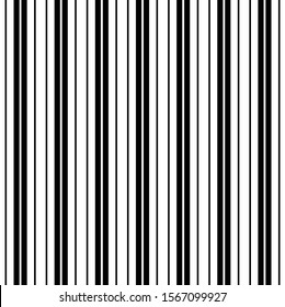Black and White Tight Double Pinstripe Vertical Seamless Striped Pattern Digital Paper