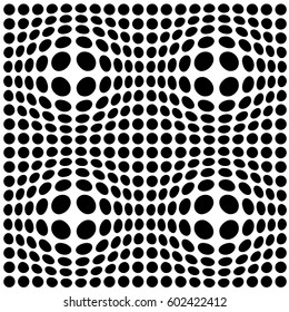 Black and white transformed dots
