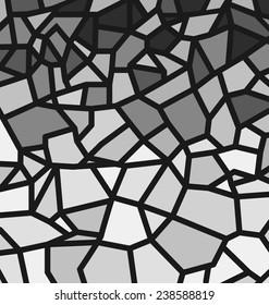Black and white trencadis