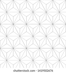 Black and white triangle shape geometric pattern vector
