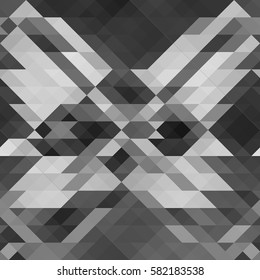 Black and white triangle texture. Vector illustration.