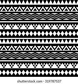 Black and white tribal triangles