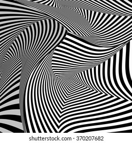 Black and White Twisted Stripes Background
