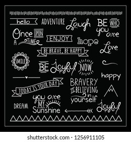 Black and White Typography, Vector