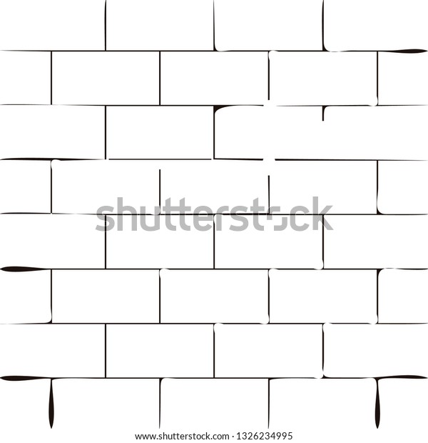 Black and white vector background with a brick wall texture.
