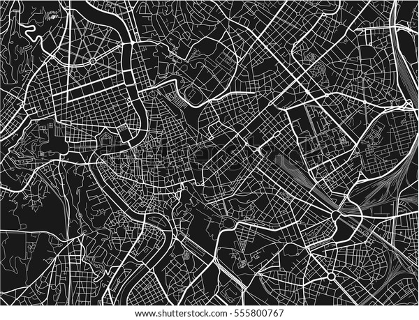 Black White Vector City Map Rome Stock-Vrgrafik (Lizenzfrei ... on