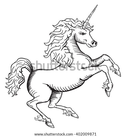 Unicorn With Wings Clipart Black And White Clip Art Images 1918