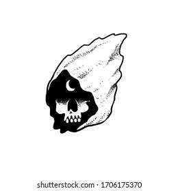 black and white vector grim reaper