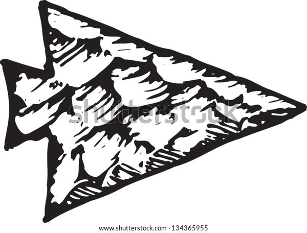 Black and white vector illustration of an Arrowhead
