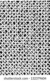Black and white vector illustration of burlap pattern