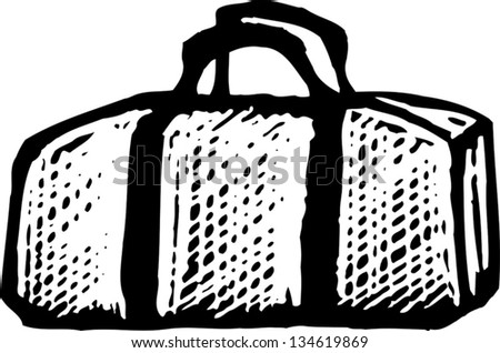 63d0bf0091 Black White Vector Illustration Duffel Bag Stock Vector (Royalty ...