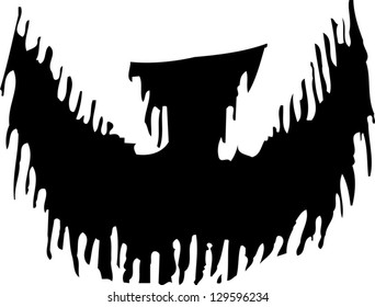 Black and white vector illustration of a goatee