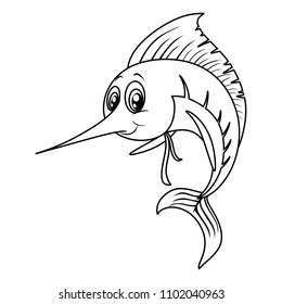 Xiphias Coloring Page Swordfish Carto...