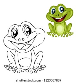 Frog Coloring Page Images Stock Photos Vectors Shutterstock