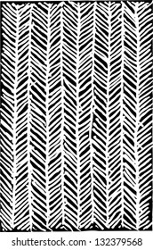 Black and white vector illustration of herringbone pattern