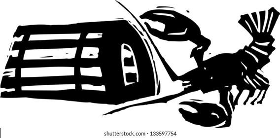lobster trap stock illustrations images vectors shutterstock rh shutterstock com Funny Lobster Clip Art Lobster Buoy Shape Clip Art