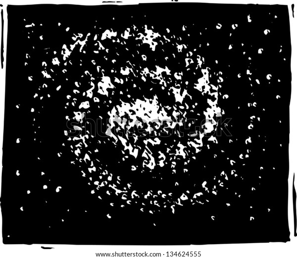 Black and white vector illustration of Solar System