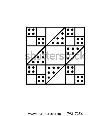 Black White Vector Illustration Stepping Stones Stock Vector