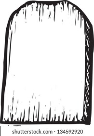 Black and white vector illustration of a Tombstone