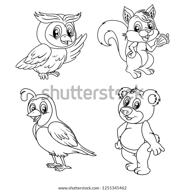 Forest Animals coloring pages » Free & Printable » Forest animals ... | 620x600