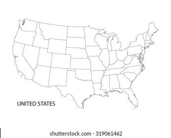 Usa Map Images, Stock Photos & Vectors | Shutterstock