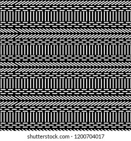 black and white vector repeating pattern of lines and squares in modern design. cool pattern for textiles, fabric, background, posters, wallpapers, templates and surface designs. pattern swatch at eps