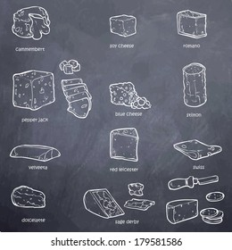 black and white vector set of random ingredients