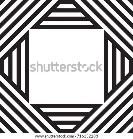 Black White Vector Stripes Pattern Background Stock Vektorgrafik