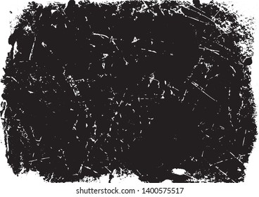 A black and white vector tracing of a grungy lino print. The black sections can be selected separately from the white background. Ideal for creating artistic textured or aged effects.