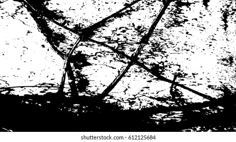 Black and white vintage grunge futuristic background. Suitable to create unique overlay textures with the effect of scratching, breaking, antiquity and old materials.