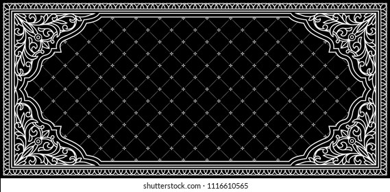 Black and white vintage ornate decorative card