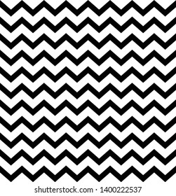 Black and white vintage zigzag chevron pattern. Scandinavian design. Simple and modern background. Texture print for wrapping paper, textile, card, wallpaper.