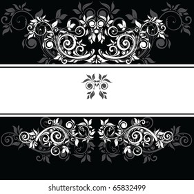 Black and white wedding template