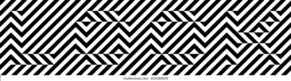 Black and white word LOOK. Optical illusion font. Pixelated font. Hidden, hard to read. Easy to recolor.