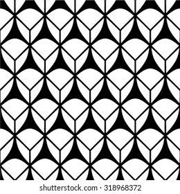 Black and white woven texture background - seamless pattern, vector graphics