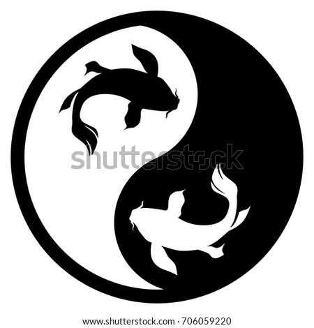 black white yin yang logo gender stock vector royalty free rh shutterstock com Dolphin Moon Tattoo Baby Dolphin Yin Yang Silhouette