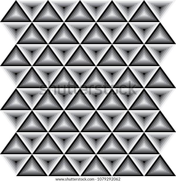 Black White Zig Zag Wallpaper Background Stock Vector