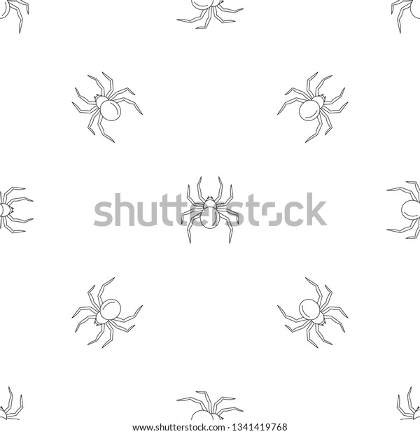 Black Widow Spider Pattern Seamless Vector Stock Vector Royalty Free 1341419768
