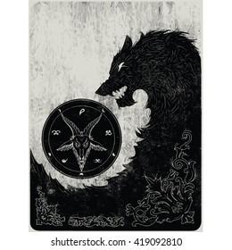 black wolf art