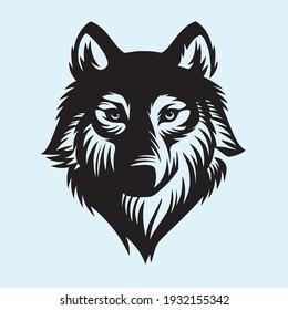 Black Wolf Head Vector illustration