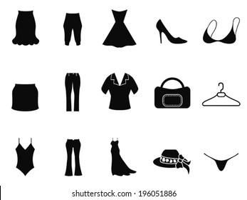black woman fashion icons set