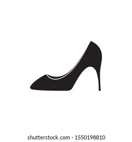 Black woman shoes icon design. Vector illustration