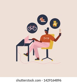 Black women shopping online, browsing bicycle, home decor and apparel by laptop app, having leisure time at home.